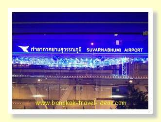 Suvarnabhumi Airport at night from the Novotel Bangkok Airport Hotel