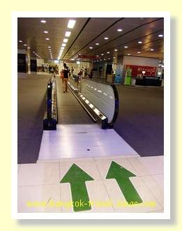 Moving walkway at Bangkok Airport