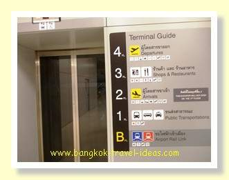 For departures take the lift directly to the 4th floor for check-in facilities