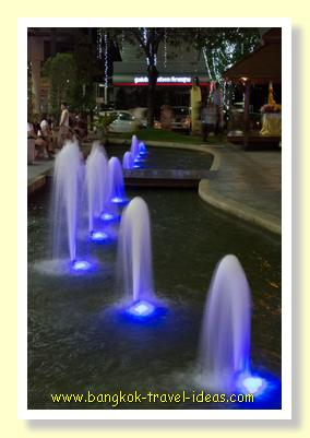 Paseo Mall night market fountains