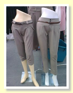 Stylish trousers at the Paseo Shopping Mall Bangkok