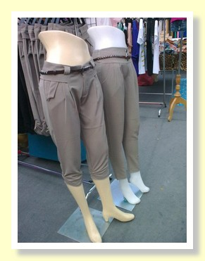 Fashion trousers at the Paseo Mall Bangkok