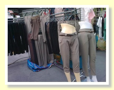 Great fashion trousers at the Paseo Shopping Mall Bangkok