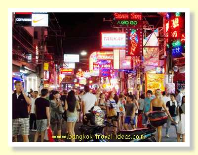 Neon lights along Walking Street Pattaya