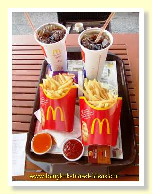 McDonald's meal in Pattaya