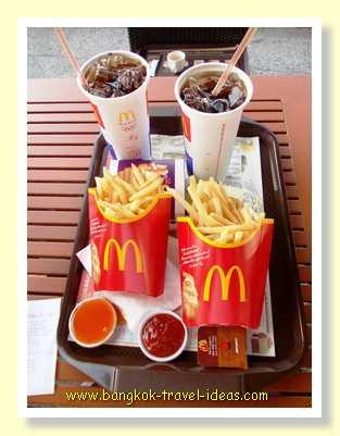 McDonald's meal in Pattaya