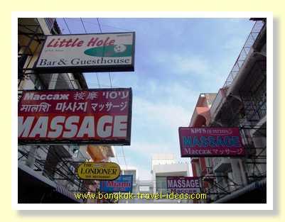 Massage shops in Pattaya