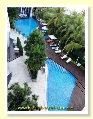Swimming pool at dustitD2 Pattaya hotel