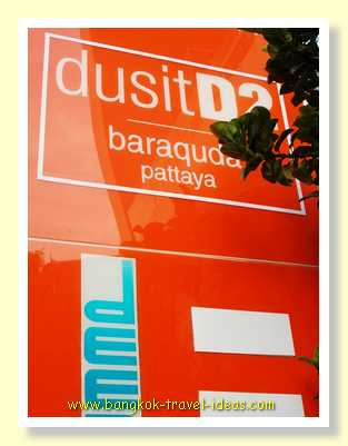 DusitD2 Pattaya hotel sign