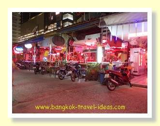 Pattaya beer bar just before the rain came
