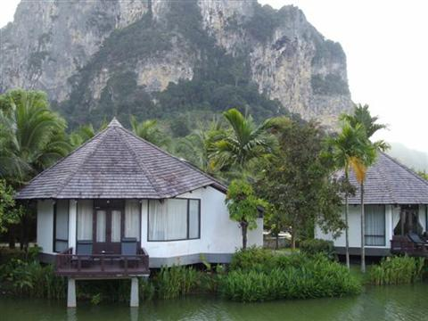 Ao Nang beach hotels are centrally located. Private cottage at Peace Laguna Resort and Spa