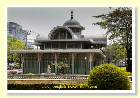 Exterior buildings at Cafe Norasingha at Phaya Thai Palace