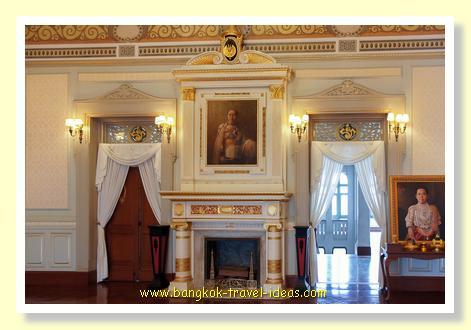 Ornate interior architecture inside this Bangkok palace