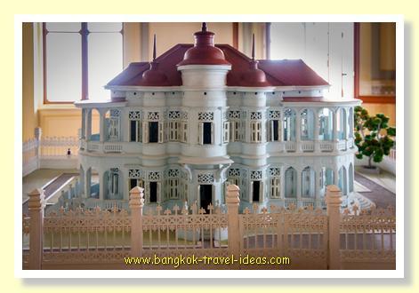 Scale model of the Phaya Thai palace
