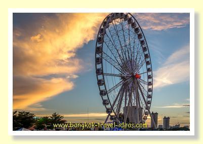 Sunset on the Asiatique Ferris wheel
