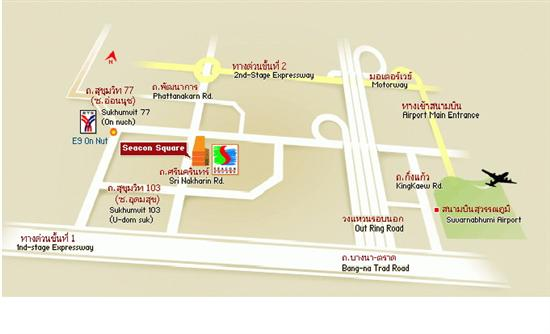 Map showing the layout of Seacon Square, Bangkok