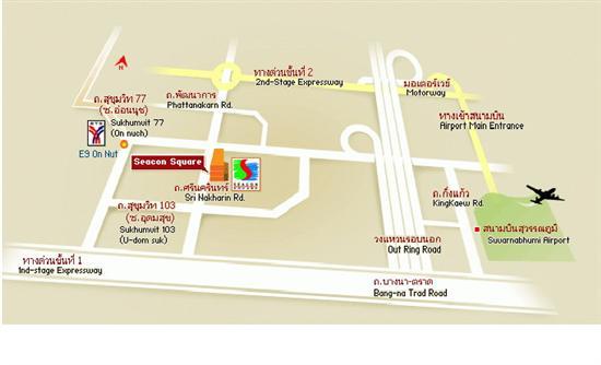 Map showing the layout of Seacon Square, Bangkok