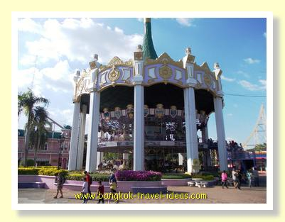 A large merry-go-round inside Siam Park City theme park