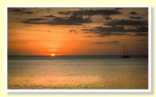 Sunset at Surin Beach Phuket Thailand