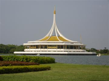 Ho Ratchamangkla in the lake at Suan Luang Rama IX Park