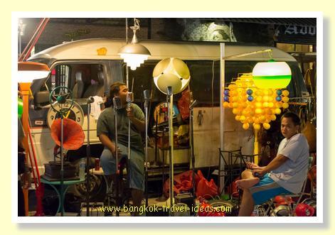 Train market Bangkok sound equipment