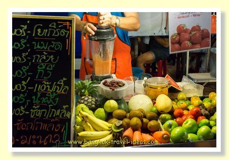 Bangkok freshly squeezed fruit juice
