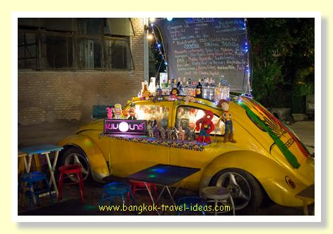 Tricked out VW to sell cocktails at the train market
