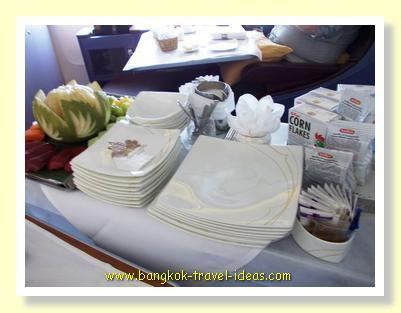 Choice of cereals on Thai Airways flights