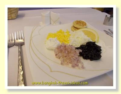 Caviar served with style on Thai