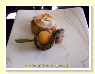 Thai Airways Canapes for First Class passengers