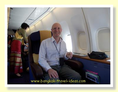 Thai Airways Platinum Frequent Flier points get you a great upgrade