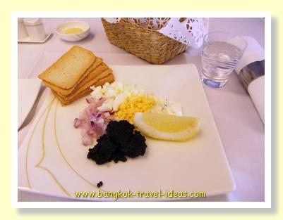 Caviar on Thai Airways