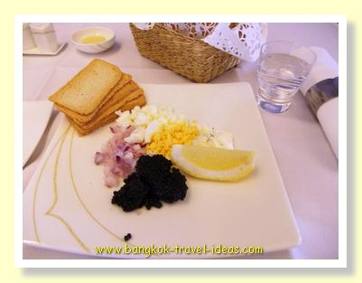 Caviar on Thai Airways