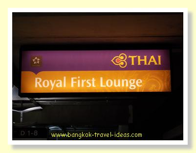 First Class lounge at Suvarnabhumi Airport
