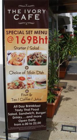 Breakfast suggestion at the Ivory Suvarnabhumi Hotel