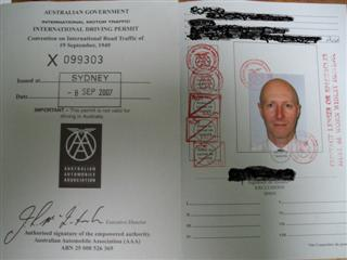 International drivers licence for legal driving in Thailand