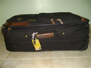 Soft sided suitcase for travel to Bangkok Thailand