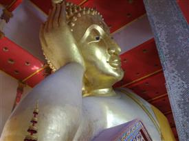 reclining Buddha at Wat Bang Phli Yai Klang