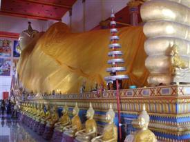 Largest Thai Reclining Budda image