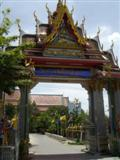 Entrance gate to Wat Bang Phli Yai Klang