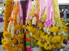 Buddhist temple flowers
