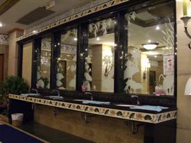 Mirrors in the 5 million Baht toilets