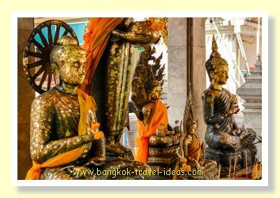 Buddha images at Wat Hua Lamphong Bangkok