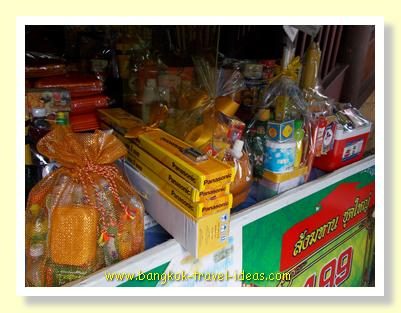 Offerings to Thai Buddhist monks