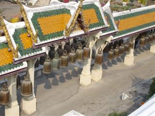 Thailand Buddhist temple bells, ring them for good luck