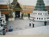 Inside the courtyard of the Temple of the Emerald Buddha