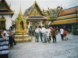 Plenty of tourists visiting the grounds of the Grand Palace here