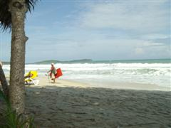Chaweng beach with a large surf