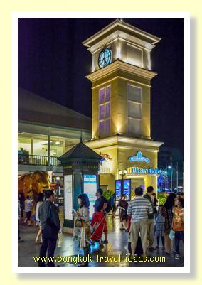 Clock tower at Asiatique the Riverfront Bangkok