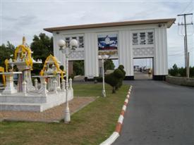 Bang Pu seaside resort entrance